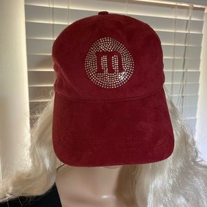 M&M M&M's World Sequins Maroon Baseball Cap VGC